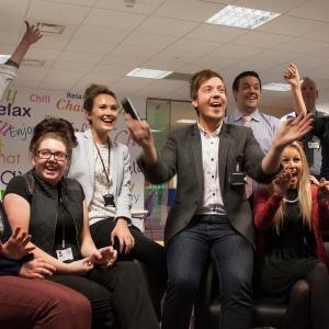 Staff at ENABLE Scotland realise they have won!