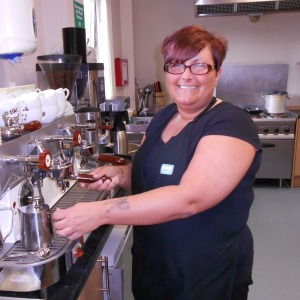 Lindsay Scott, Superviser at the RNIB cafe