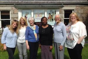 Angela Gowdy (second from right) with Home Start Garioch Volunteers