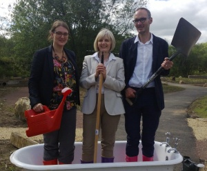 Claire Bennett, Grow Wild; Maureen McGinn, Big Lottery Fund; Mark Brand, East Renfrewshire Council