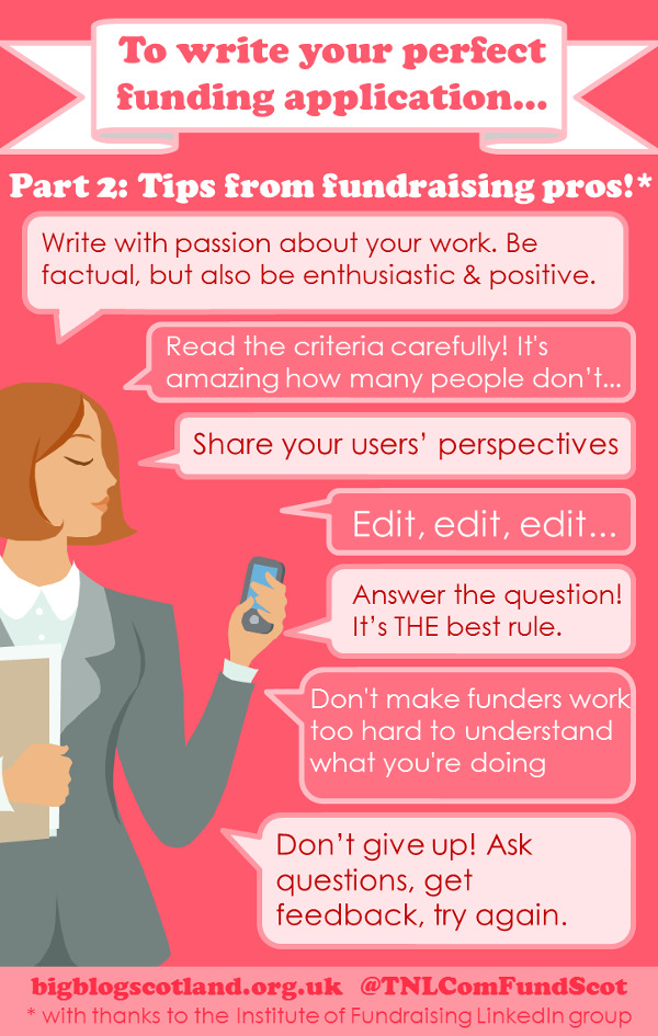 Infographic: top application tips from fundraisers