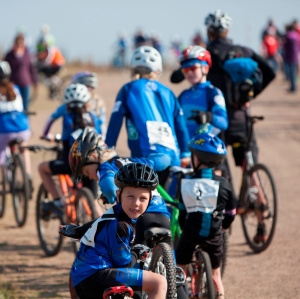 Young people taking part in the Go Ride Legacy