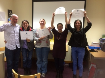 'Graduates' from a recent parent training course run by Speur-Ghlan