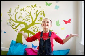 Pictures Martin Shields Herald and Times Group...Bobbi Mcintyre  (9) in the family Support Unit in the Prince and Prince of Wales Hospice in Glasgow. Her  family have used the Butterfly Project at the Hospice.
