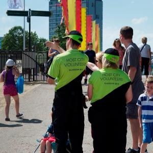 City Host Volunteers in action