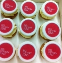 Big Lottery Fund cupcakes to celebrate!