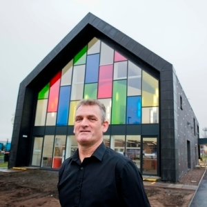 Robert Arthur outside the newly built centre in Newmains