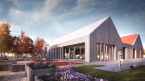 Artist's impression of the planned Tayport Community Hub.