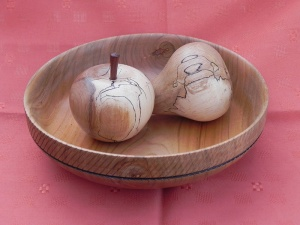 Examples of the crafts created by the Taywood Woodturning Club.