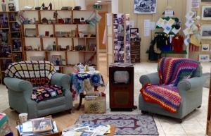 Living room area in Little Shop of Memories.