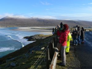 Students are regular visitors to the West Harris Trust to see community ownership in action.