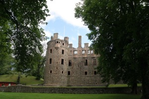 Huntly Castle is used as the logo for the Trust.