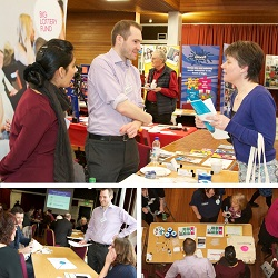 Alastair and Gurdeep at the tsiMORAY conference, Elgin (Photos by Diane Smith, Dizzying Project Management)