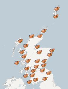 Interactive map of grants