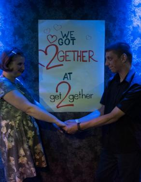 fiona and duncan dancing at a get2gether event