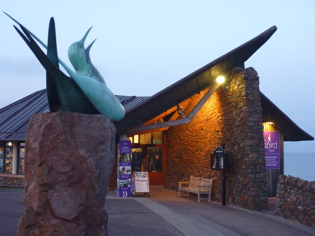 Scottish Seabird Centre's visitor entrance.