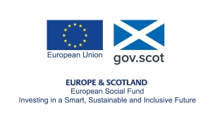 European Union logo and The Scottish Government logo together