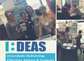 A collage of the people of Inverclyde receiving money management advice and support