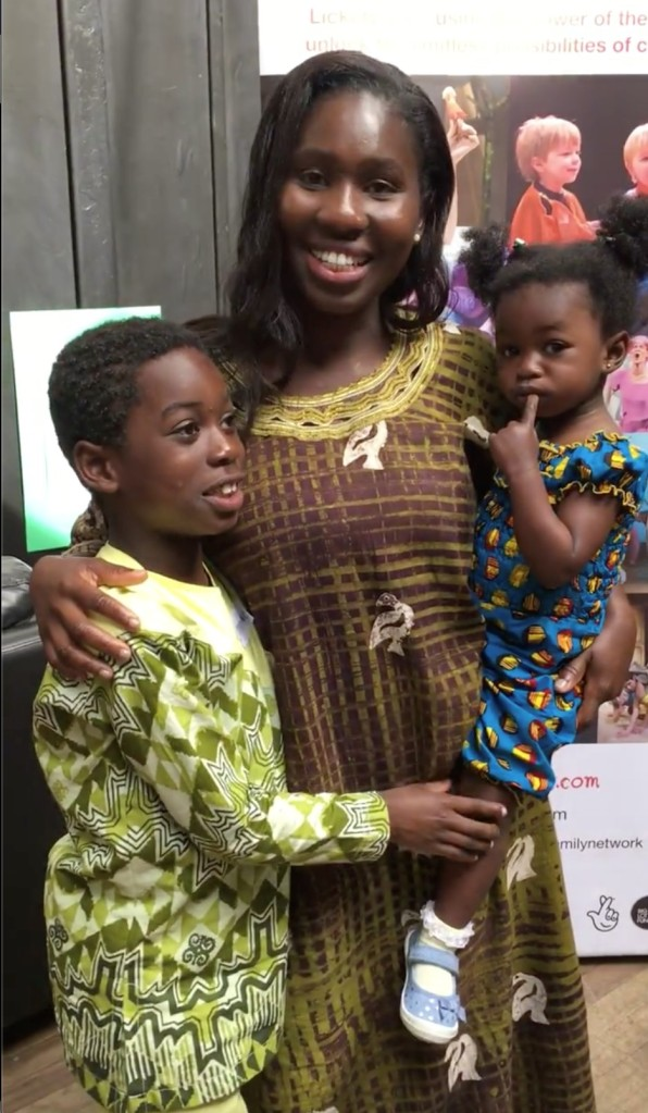 Boatemaa with son Emmanuel, and daughter Gabby