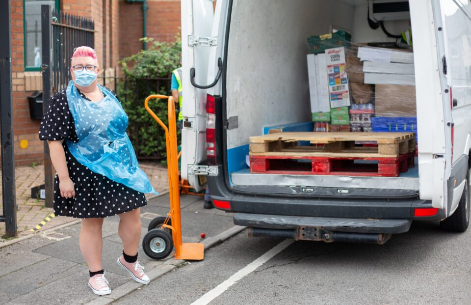 Person unloading shopping