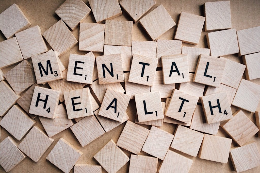 scrabble letters saying mental health